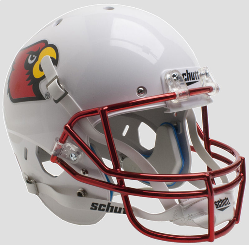 Louisville Cardinals Schutt XP Mini Helmet - Chrome Mask