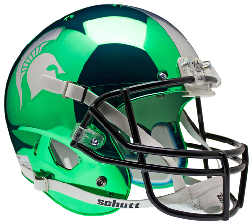 Michigan State Spartans Replica Schutt XP Full Size Helmet - Chrome