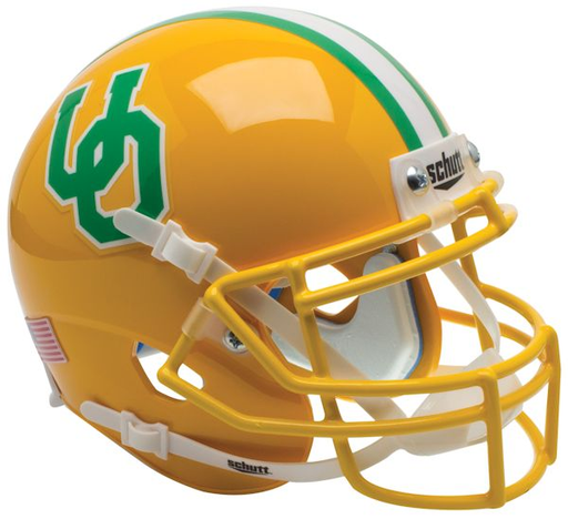 Oregon Ducks Schutt XP Mini Helmet - Yellow 1984-94 Throwback