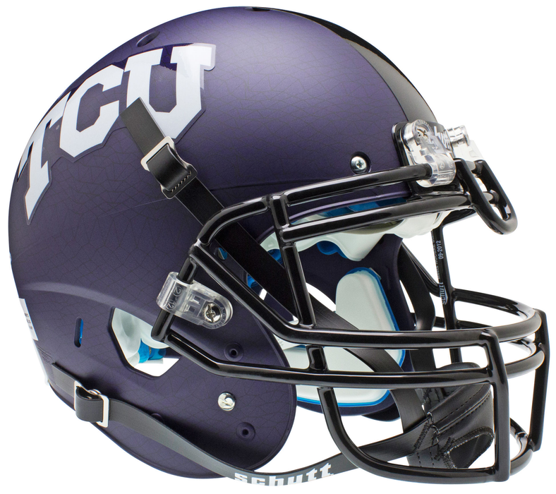 TCU Horned Frogs Authentic Schutt XP Full Size Helmet - Purple Crosshatch