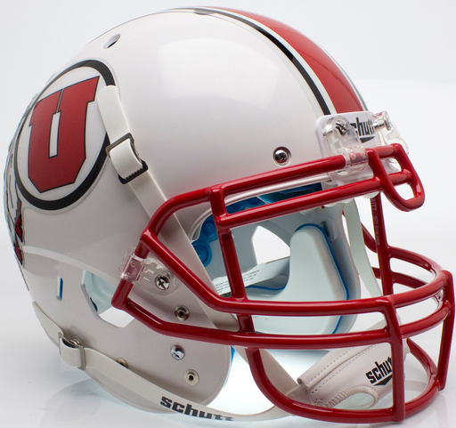 Utah Utes Authentic Schutt XP Full Size Helmet - White with Stripe