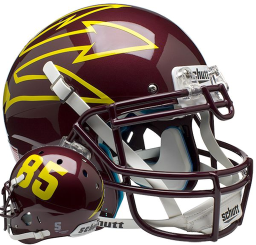 Arizona State Sun Devils Authentic Schutt XP Full Size Helmet - Maroon 85