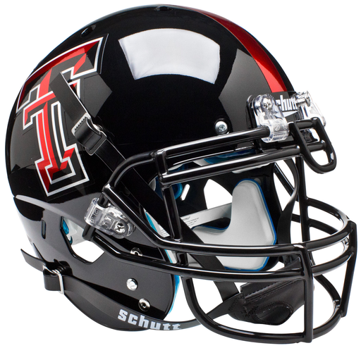 Texas Tech Red Raiders Authentic Schutt XP Full Size Helmet - Chrome Logo