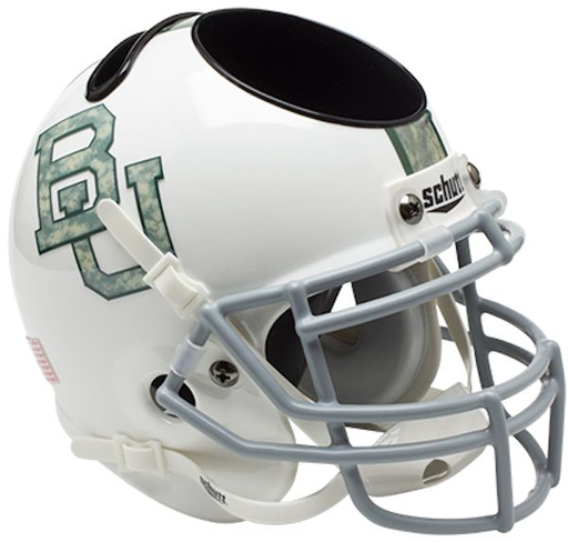 Baylor Bears Mini Helmet Desk Caddy -  White Camo