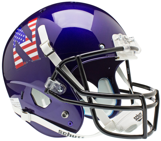 Northwestern Wildcats Replica Schutt XP Full Size Helmet - Flag N