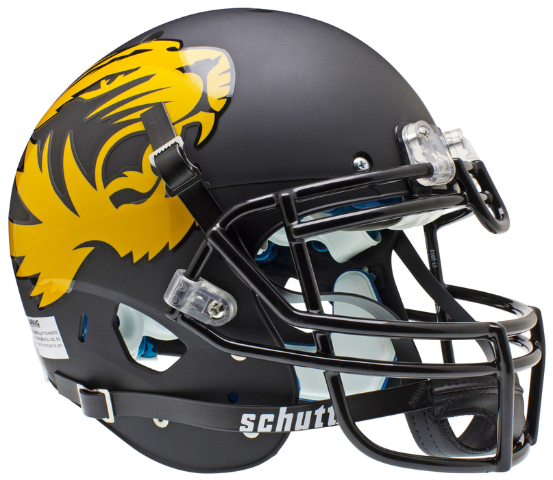 Missouri Tigers Authentic Schutt XP Full Size Helmet - Matte Black