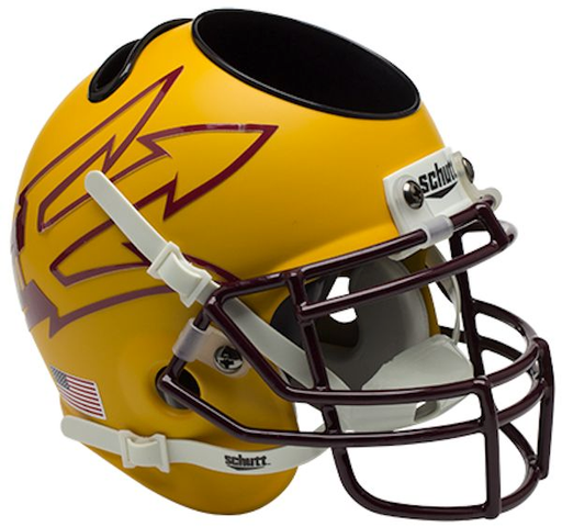 Arizona State Sun Devils Mini Helmet Desk Caddy - Matte Gold 85
