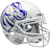 Boise State Broncos Authentic White Schutt XP Full Size Helmet - New Logo