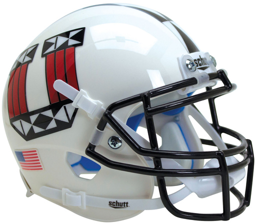 Utah Utes Authentic Schutt XP Full Size Helmet - White