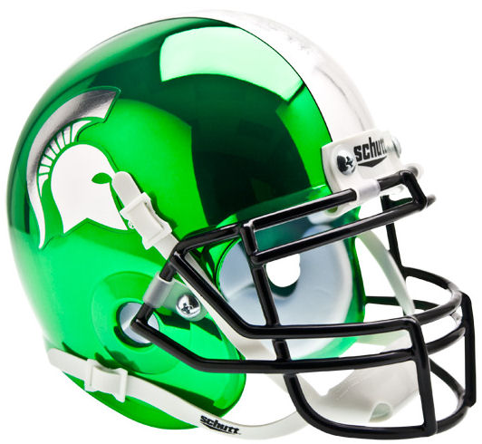 Michigan State Spartans Schutt XP Mini Helmet - Chrome