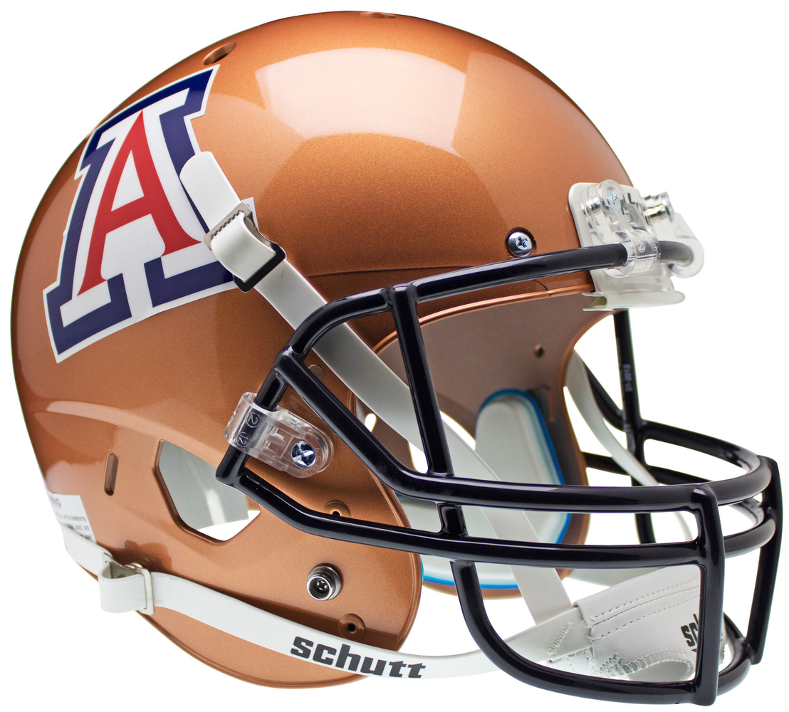 Arizona Wildcats Replica Schutt XP Full Size Helmet - Copper