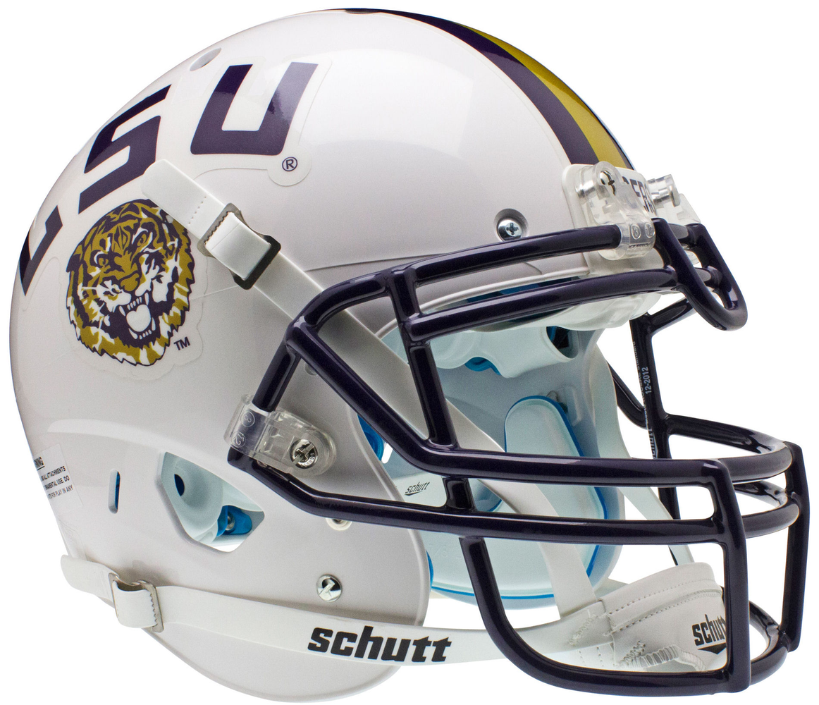 LSU Tigers Authentic Schutt XP Full Size Helmet - White