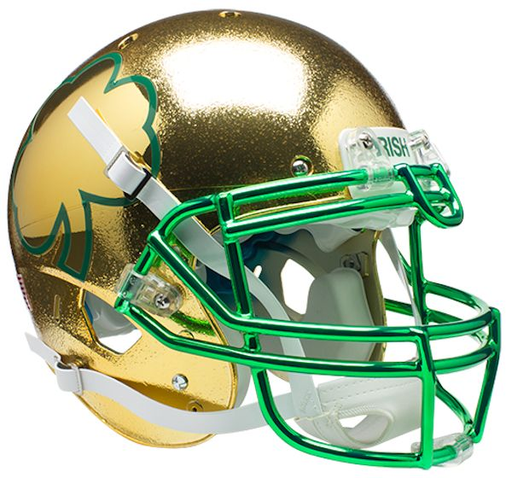 Notre Dame Fighting Irish Authentic Schutt XP Full Size Helmet - Textured with Shamrock