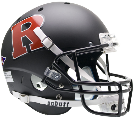 Rutgers Scarlet Knights Replica Schutt XP Full Size Helmet - Matte Black Red R