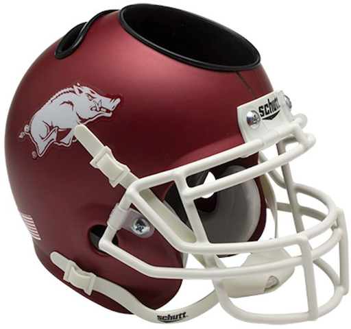 Arkansas Razorbacks Mini Helmet Desk Caddy - Matte Crimson