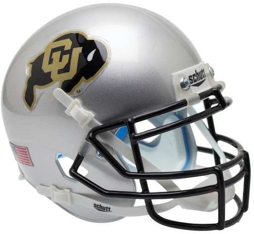 Colorado Buffaloes Authentic Schutt XP Full Size Helmet - Silver