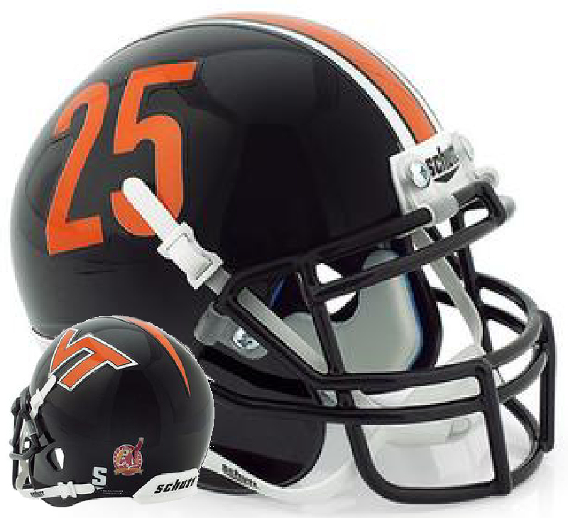 Virginia Tech Hokies Schutt XP Mini Helmet - Frank Beamer