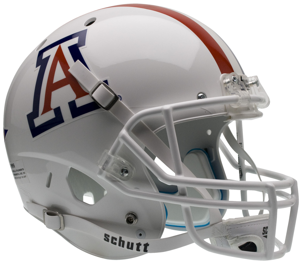 Arizona Wildcats Replica Schutt XP Full Size Helmet - White w/ Stripe