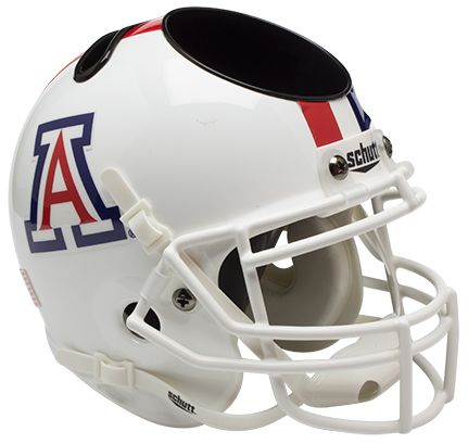 Arizona Wildcats Mini Helmet Desk Caddy - White with Stripe