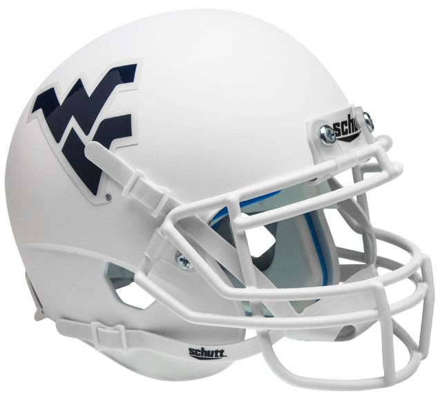 West Virginia Mountaineers Schutt XP Mini Helmet - Matte White