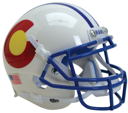 Colorado State Rams Schutt XP Mini Helmet - Alt