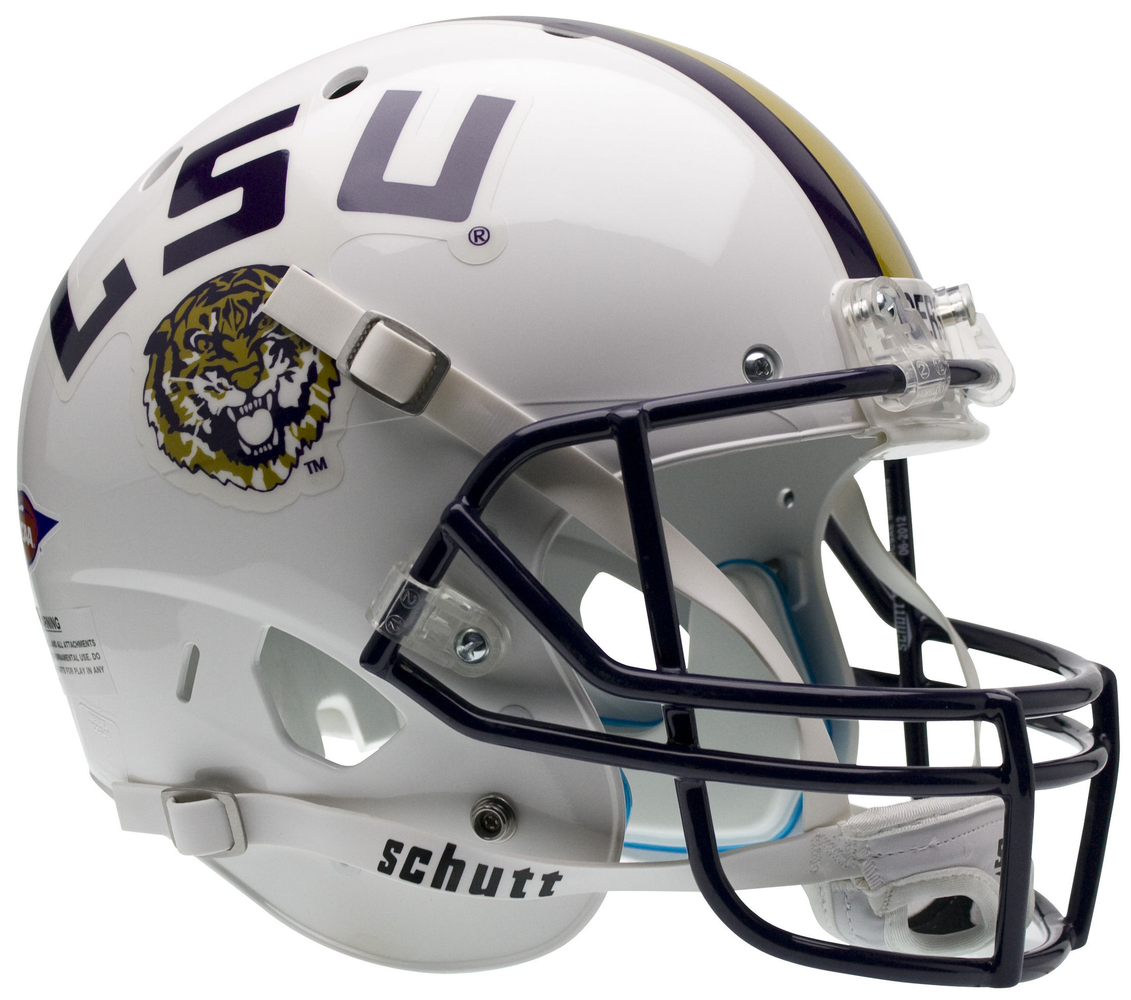 LSU Tigers Replica Schutt XP Full Size Helmet - White