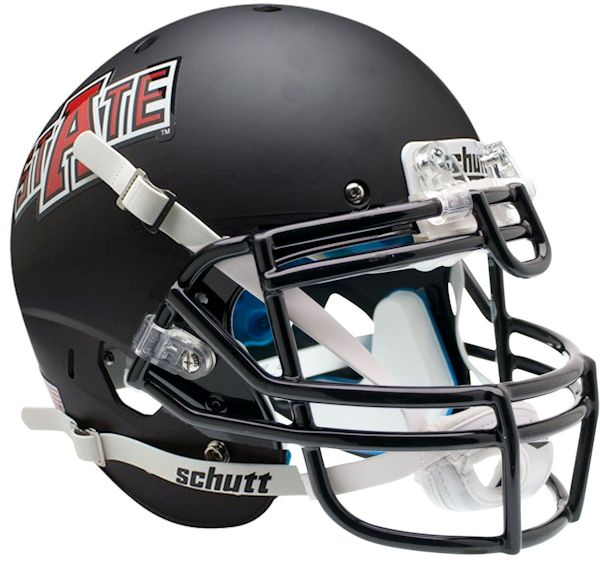 Arkansas State Indians Authentic Schutt XP Full Size Helmet - Matte Black