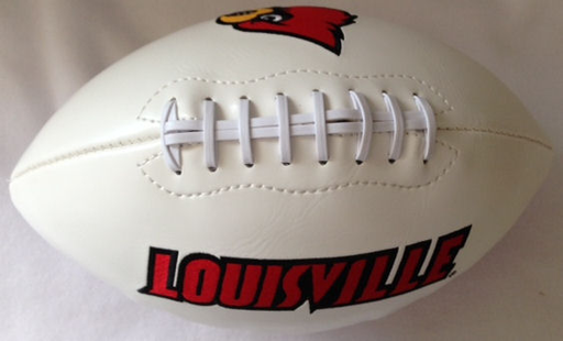 Louisville Cardinals NCAA White Panel Football
