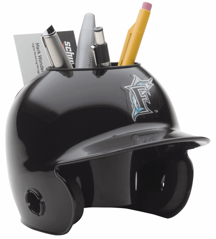 Miami Marlins Mini Batters Helmet Desk Caddy