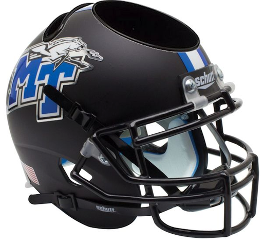 Middle Tennessee State Blue Raiders Mini Helmet Desk Caddy - Matte Black