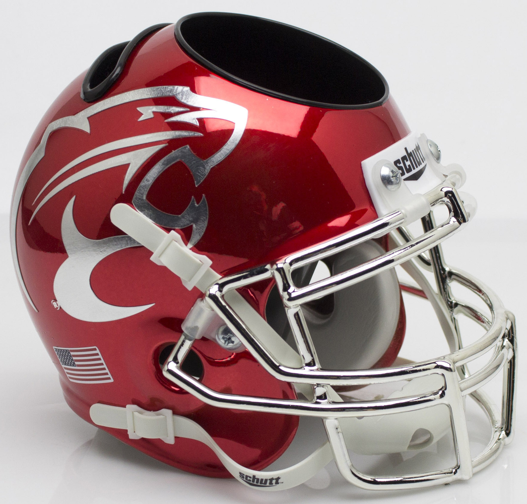 Houston Cougars Mini Helmet Desk Caddy - Chrome