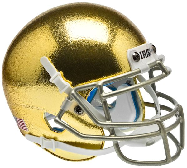 Notre Dame Fighting Irish Schutt XP Mini Helmet - Textured with Metallic Mask
