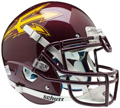 Arizona State Sun Devils Authentic Schutt XP Full Size Helmet - Maroon
