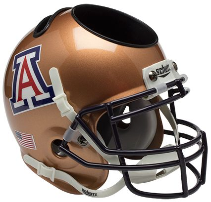 Arizona Wildcats Mini Helmet Desk Caddy - Copper