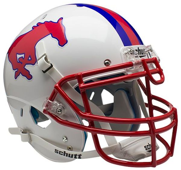 SMU Mustangs Authentic Schutt XP Full Size Helmet