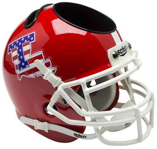 Louisiana Tech Bulldogs Mini Helmet Desk Caddy - Flag