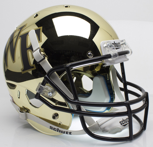 Wake Forest Demon Deacons Replica Schutt XP Full Size Helmet - Chrome