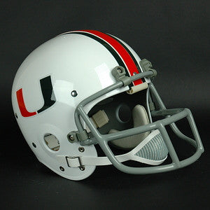Miami Hurricanes 1976 to 1983 Jim Kelly Full Size Throwback Helmet