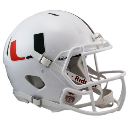Miami Hurricanes Authentic Full Size Speed Helmet
