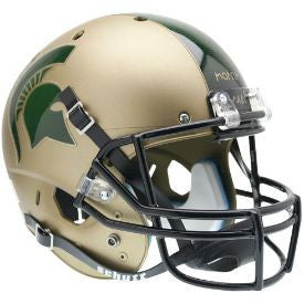 Michigan State Spartans Replica Schutt XP Full Size Helmet - Matte Gold
