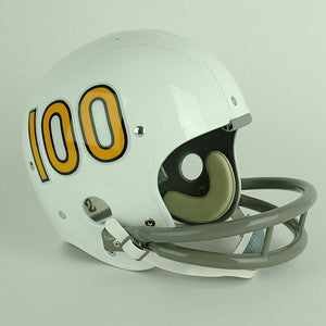 Navy Midshipmen 1969 Full Size Throwback Helmet - White w/ Orange #