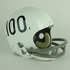 Navy Midshipmen 1969 Full Size Throwback Helmet - White w/ Blue #