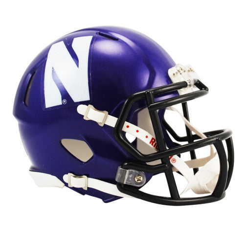 Northwestern Wildcats Riddell Mini Speed Helmet