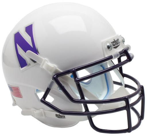 Northwestern Wildcats Schutt XP Riddell Mini Helmet - White