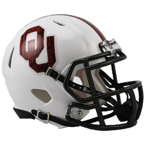 Oklahoma Sooners Riddell Mini Speed Helmet - Bring The Wood