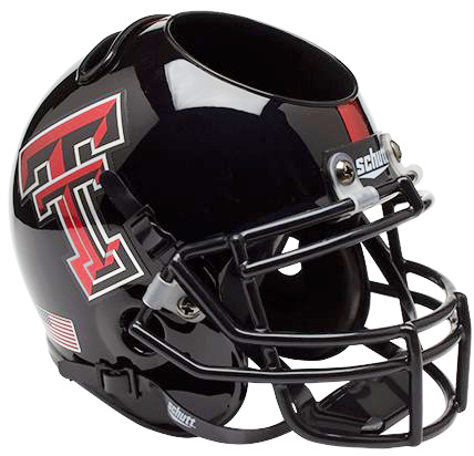 Texas Tech Red Raiders Mini Helmet Desk Caddy - Chrome Logo