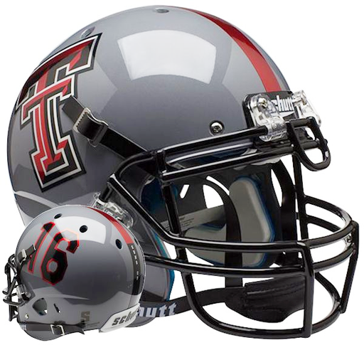 Texas Tech Red Raiders Authentic Schutt XP Full Size Helmet - Gray 16