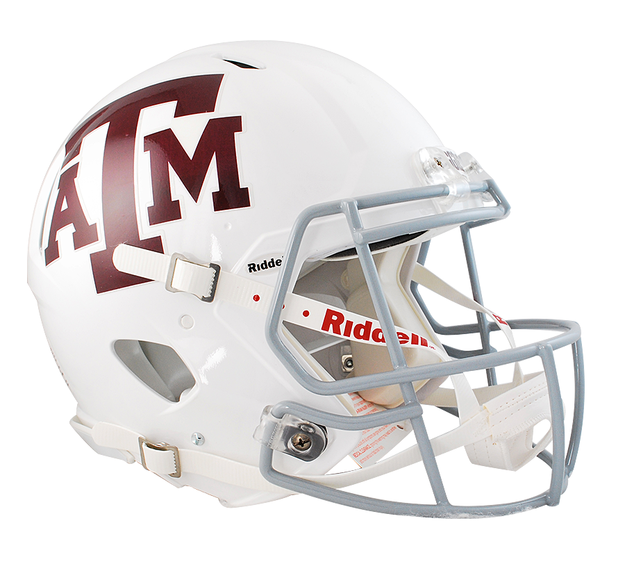 Texas A&M Aggies Authentic Full Size Speed Helmet - White