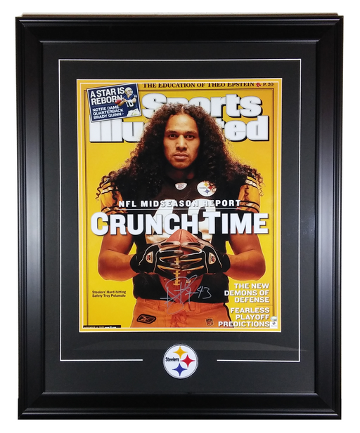 "Troy Polamalu Pittsburgh Steelers Autographed ""16x20"" SI Cover - GA"