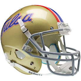 Tulsa Golden Hurricane Replica Schutt XP Full Size Helmet